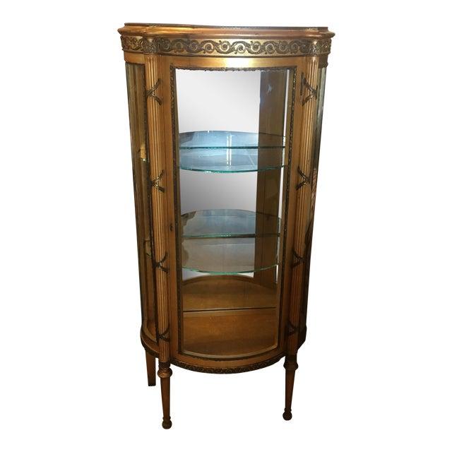 French Vitrine Curio Cabinet - Image 1 of 6