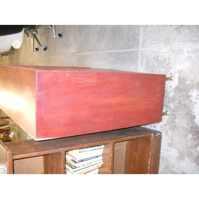 Vintage Midcentury Modern Record Cabinet - Image 10 of 11