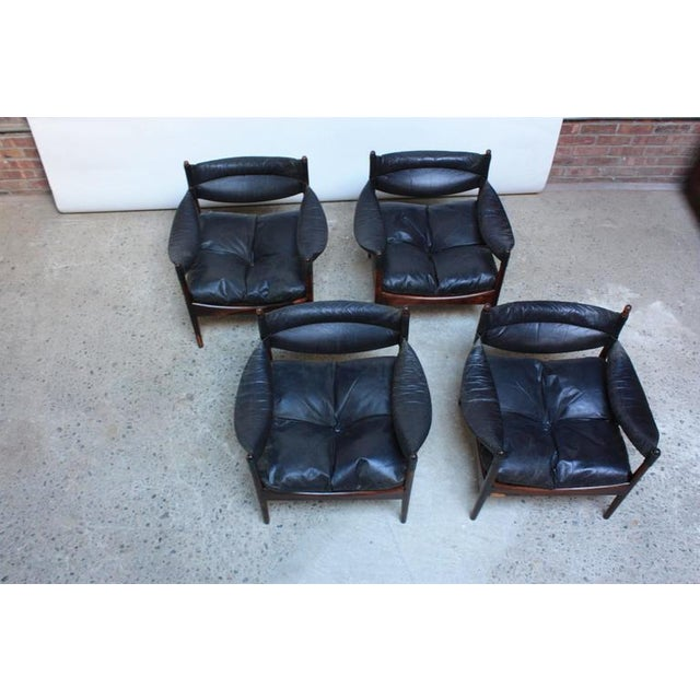 Set of Four Kristian Solmer Vedel 'Modus' Rosewood Lounge Chairs - Image 4 of 10