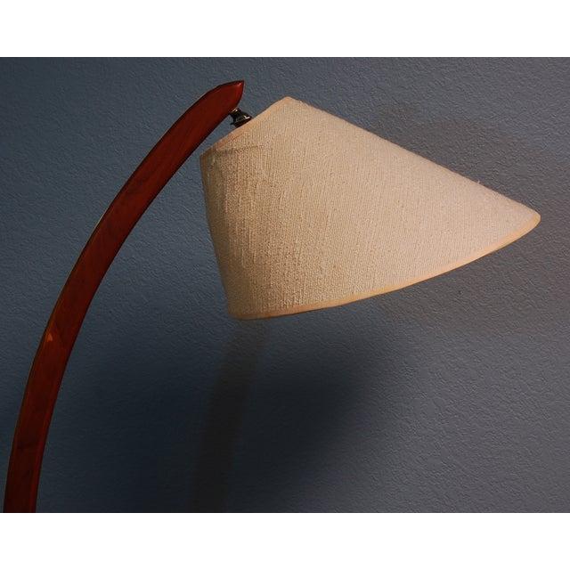 Vintage Danish Modern Teak Bowed Floor Lamp - Image 10 of 10