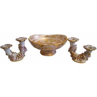 Mid-Century Royal Haeger Gold Centerpiece Set - Set of 3