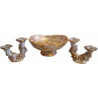 Mid-Century Royal Haeger Gold Centerpiece Set - Set of 3