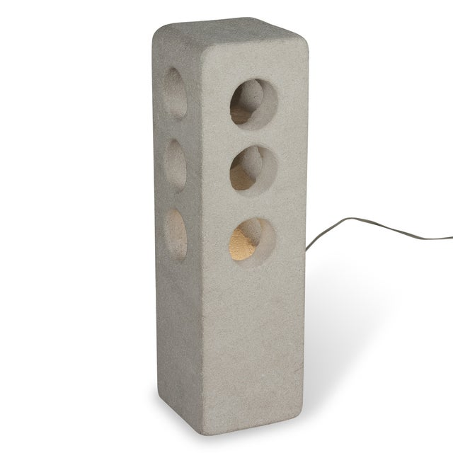 Stone Column Table Lamp by A. Tormos - Image 2 of 9