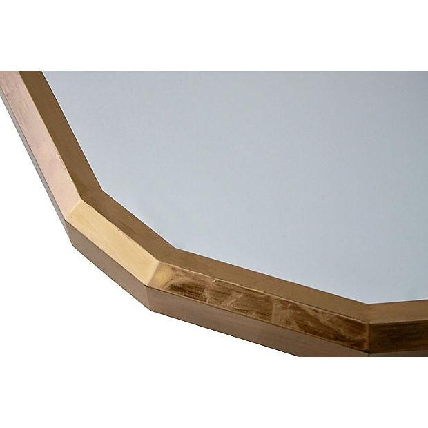 Image of 1970s Faceted Gold Wall Mirror