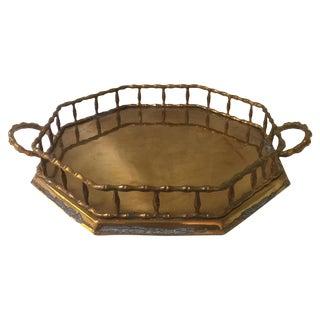 Vintage Octagonal Bamboo Motif Tray