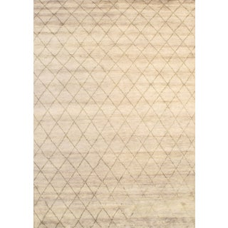 """Pasargad NY Modern Moroccan Hand Knotted Rug - 6'2"""" X 9'"""