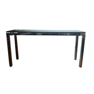 1970's Chrome & Glass Console Table