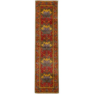 "Arts & Crafts Hand-Knotted Runner - 2'6"" X 10'1"""