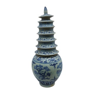 Hand Painted Pagoda Vase