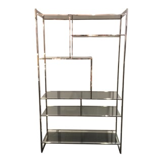 Milo Baughman Glass & Chrome Etagere