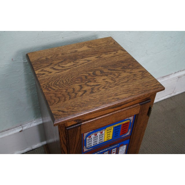 Repurposed Golden Nugget Slot Machine Side Table - Image 6 of 10