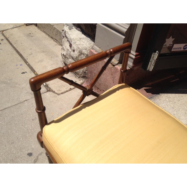 Vintage Faux Bamboo Chippendale Bench - Image 5 of 6