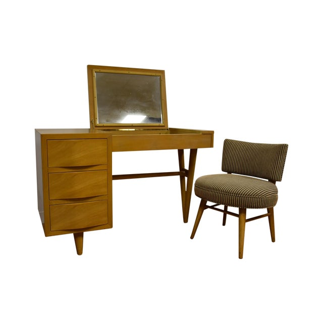 Red Lion Bleached Mahogany Vanity Desk and Chair - Image 1 of 11
