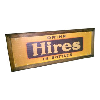 Antique 'Hires' Wooden Sign