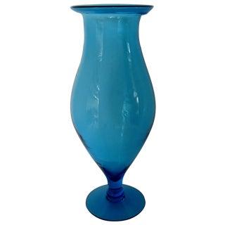 Blenko Turquoise Goblet Vase