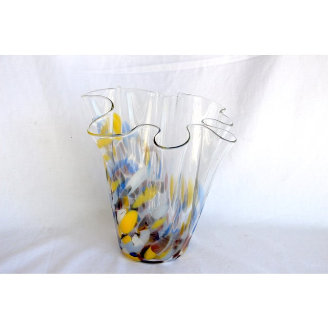 Sculptural Hand-Blown Handkerchief Vase - Image 6 of 6