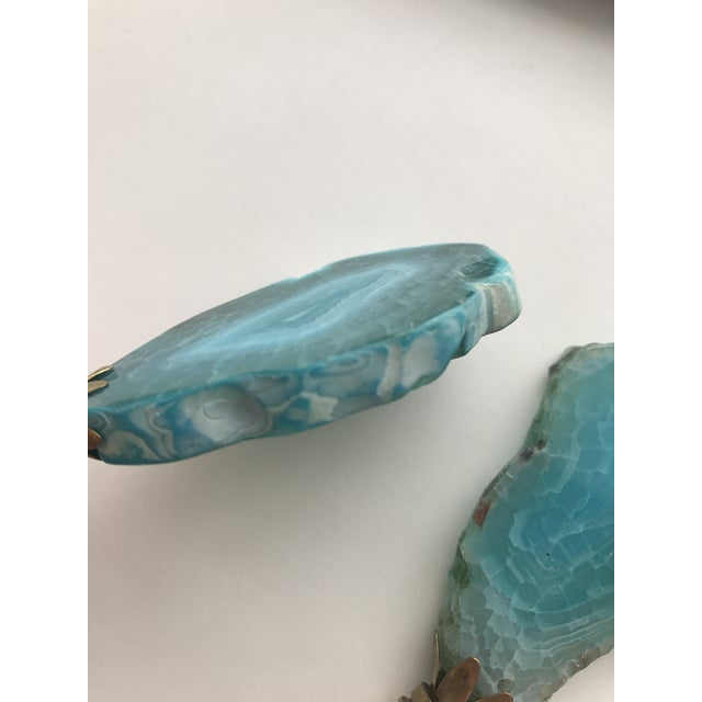 Turquoise Agate Stone Lamp Finials - A Pair - Image 4 of 4