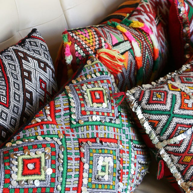 Handcrafted Moroccan Kilim Pillow II - Image 7 of 7