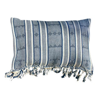 """Sumba Mojo"" Indigo Ikat Pillow Cover"