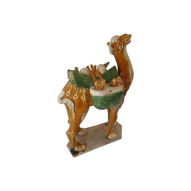 Image of Chinese Antique Tang Style Glazed Pottery Camel
