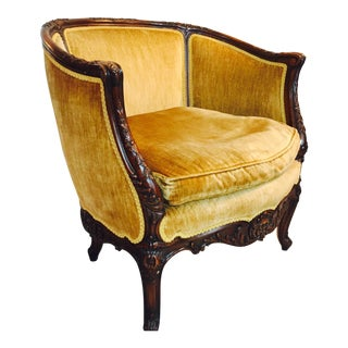 Dijon Velvet Bergere Barrel Chair