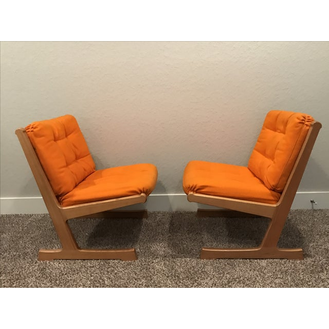 Image of Danish Mid-Century Modern France and Son Siesta Easy Chairs - A Pair