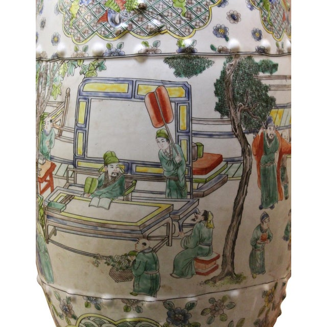 Chinese Porcelain Garden Stool with Scenery - Image 5 of 10