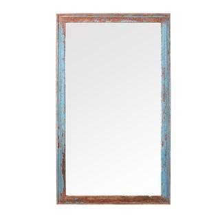 Vintage Turquoise Mirror Frame