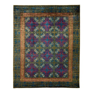 "Suzani, Hand Knotted Victorian Style Wool Area Rug - 8' 1"" X 10' 1"""