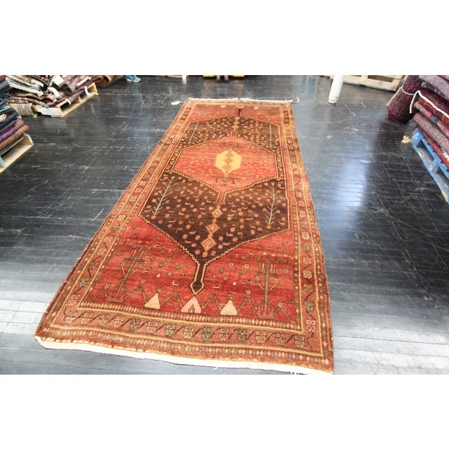 "Apadana - Red Persian Runner Rug - 4'8"" x 10'8"" - Image 2 of 3"