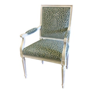 Federal Style Distressed Accent Chair