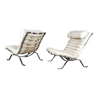 "1970s Arne Norell Swedish ""Ari"" Lounge Chairs- A Pair"