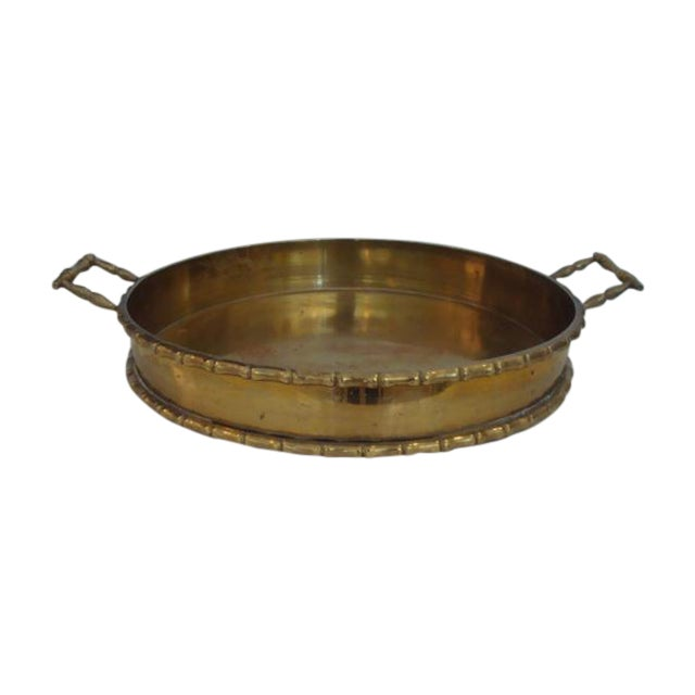 Round Faux Bamboo Tray - Image 1 of 6