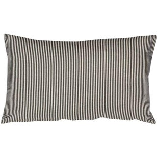 Wedgwood Blue Ticking Striped Pillow