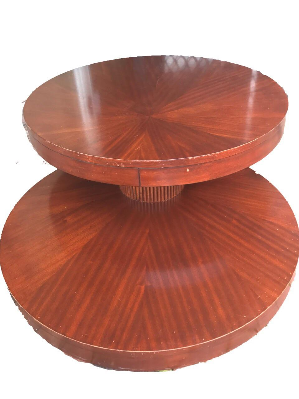 Round Wooden Rotating Coffee Table   Image 5 Of 10