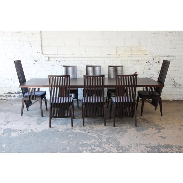 Frank lloyd wright style arts crafts dining set by a for Wright style