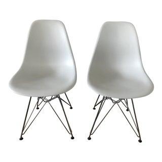 Alpine White Eames Chairs - A Pair