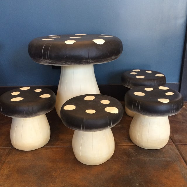 Mushroom Table Amp Stool Set Chairish