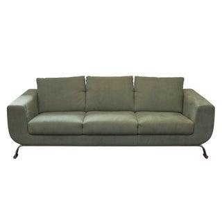 Seafoam Ultrasuede Modern Italian Sofa