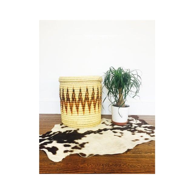 Large Vintage Coil Basket or Hamper - Image 3 of 6