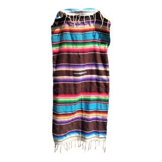 Vintage Striped Serape Throw