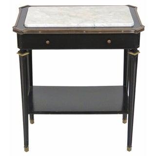 Jansen Ebonized Marble Top Side Table