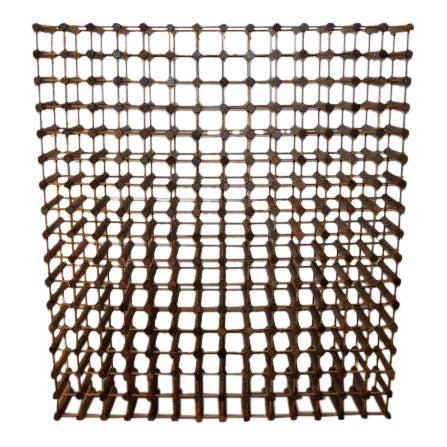 Monumental Modernist Wood Wine Rack - Image 1 of 5