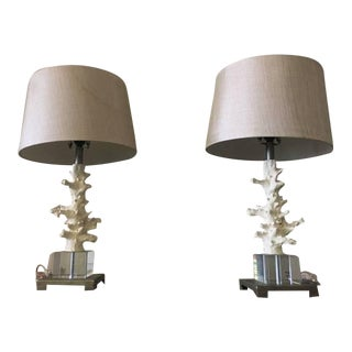 Cottage Beach Coral Lamps - A Pair