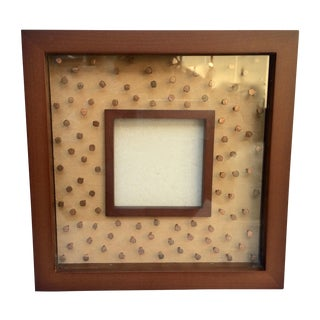 Copper Nail and Wood Picture Frame