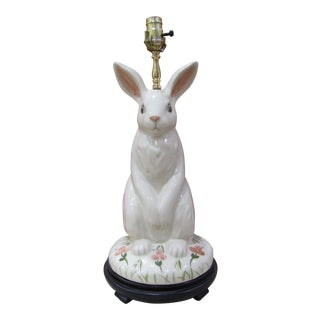 Porcelain Bunny Table Lamp