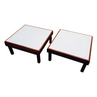 Brown Saltman Modular Side/Cocktail Tables - Pair
