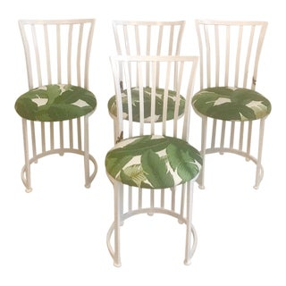Coco's House Rounded Palm Metal Dining Chairs - Set of 4