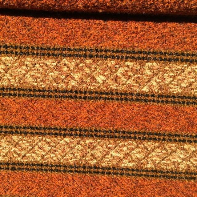 Mid-Century Modern Orange Stripped Sofa - Image 10 of 10