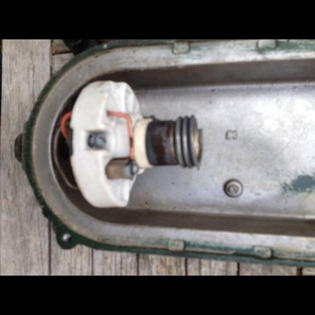 Industrial Explosion Proof Cage Light 1960's - Image 4 of 6